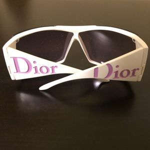 Christian Dior Oversized Purple & White Sunglasses